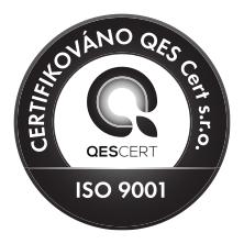 Společnost zavedla a používá systém managementu kvality dle normy ČSN EN ISO 9001:2016.